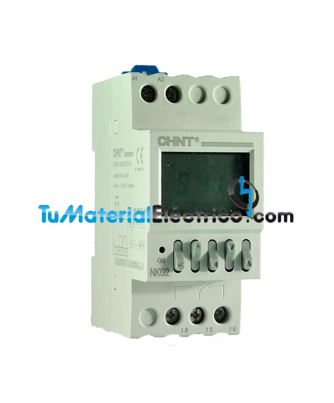 Chint nkg2 reloj temporizador programable for Programador electrico digital